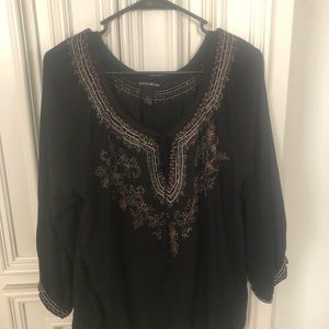 Black embroidered Lucky shirt